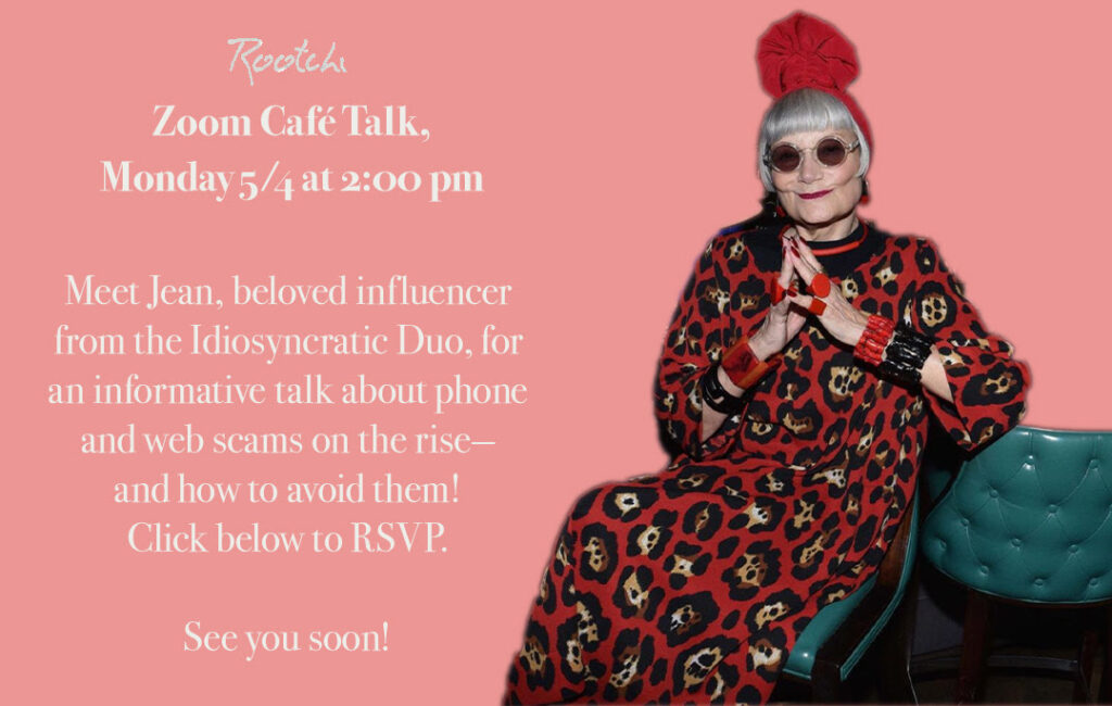 We met actress Jean Stone of the Idiosyncratic Fashionistas duo to talk Online Fraud.