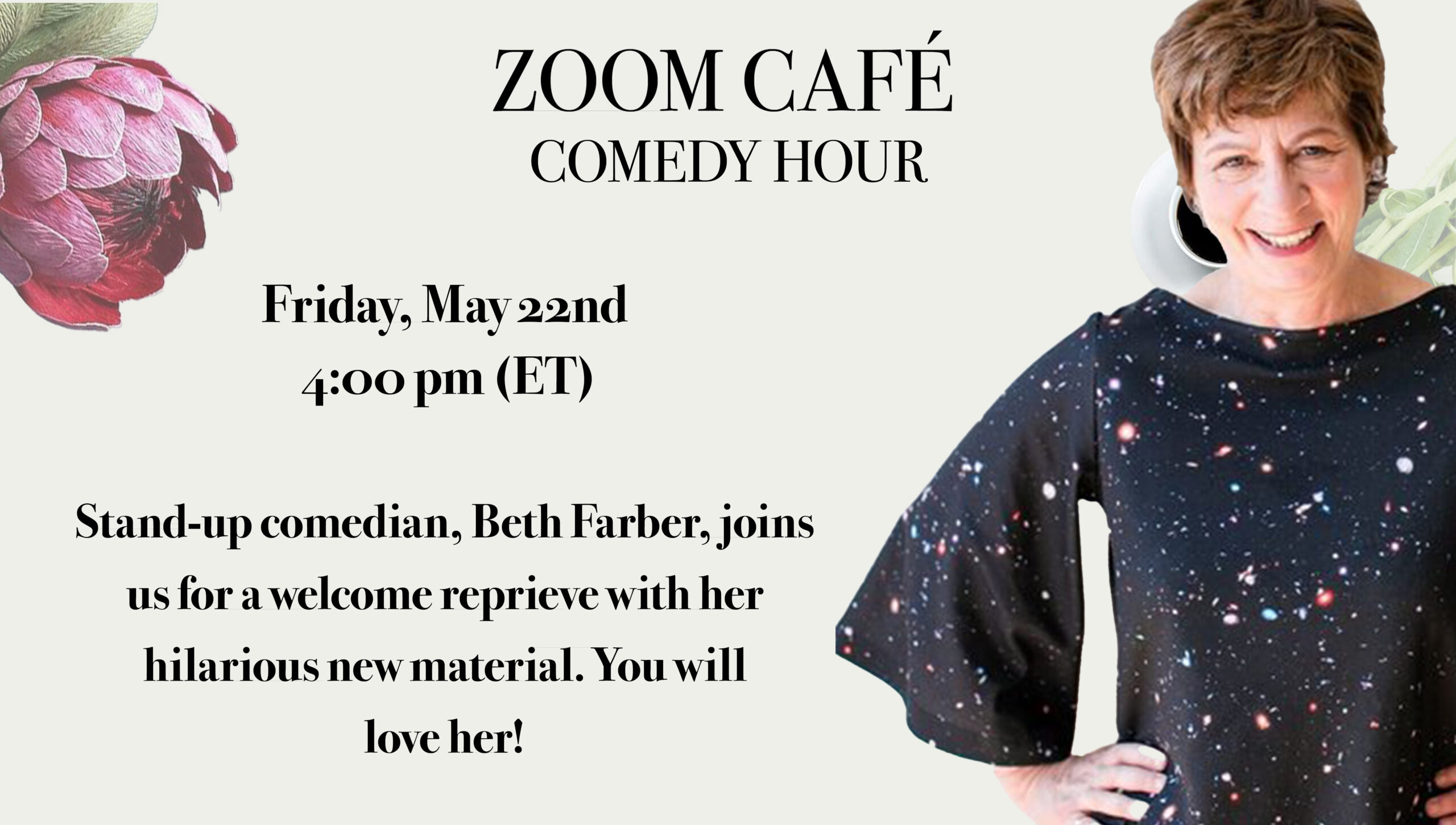 We met comedian Beth Farber for a hilarious stand-up session.